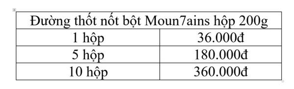 Đường thốt nốt bột Moun7ains