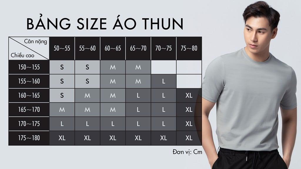 size áo thun