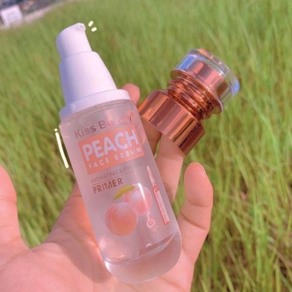 Kem lót cẩp ẩm Kiss Beauty Peach Face Serum 40ml