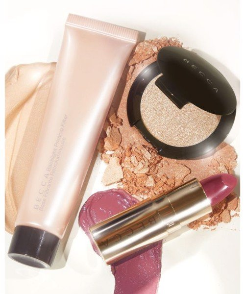 Set Becca Your Glow To Glow Primer Highlighter and Lip Makeup