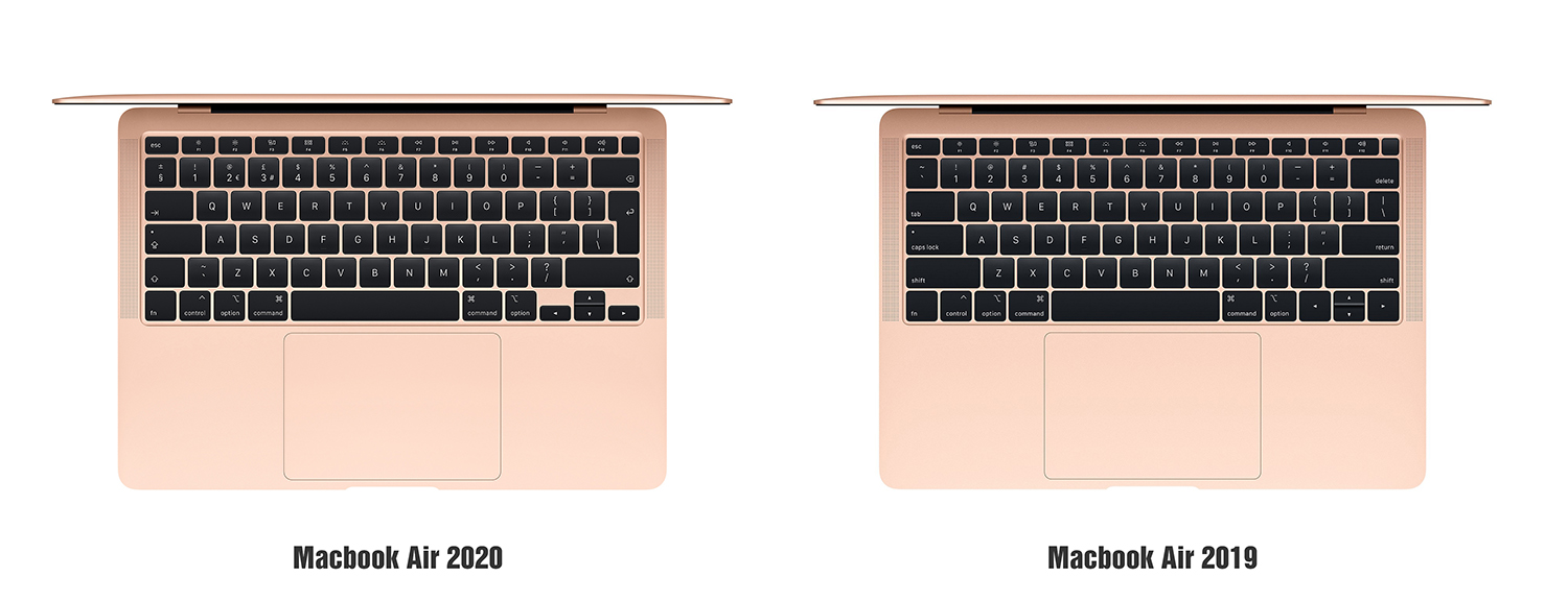 So sánh MacBook Air 2020 và MacBook Air 2019