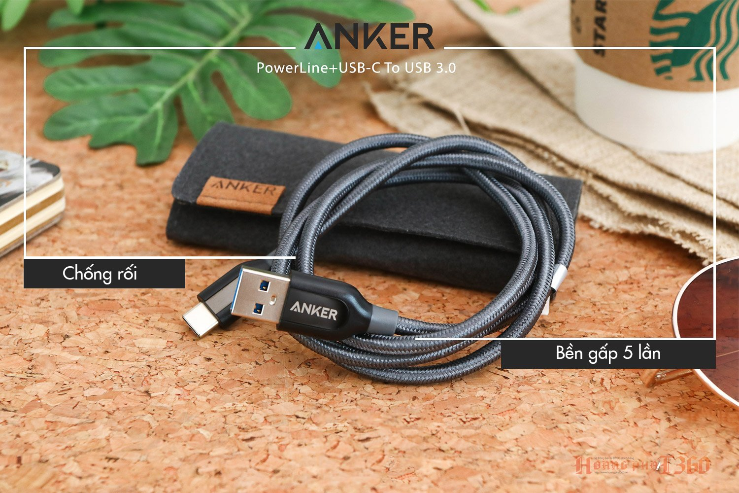 Cáp Anker PowerLine USB 3.0 ra USB-C