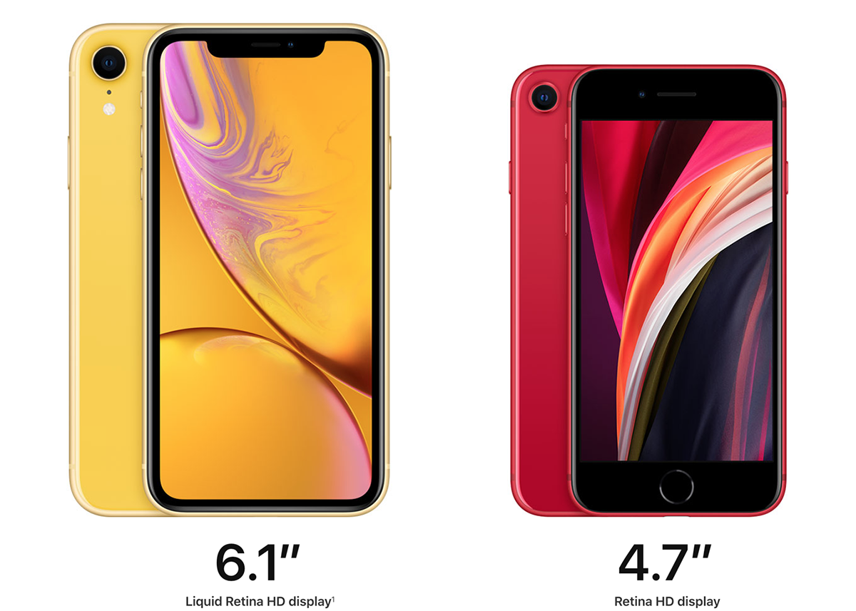 So sánh iPhone SE 2020 với iPhone XR