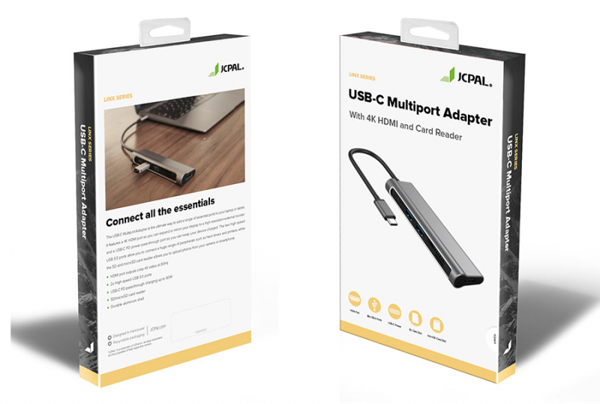 Bộ chia cổng Jcpal USB-C Multiport 6in1