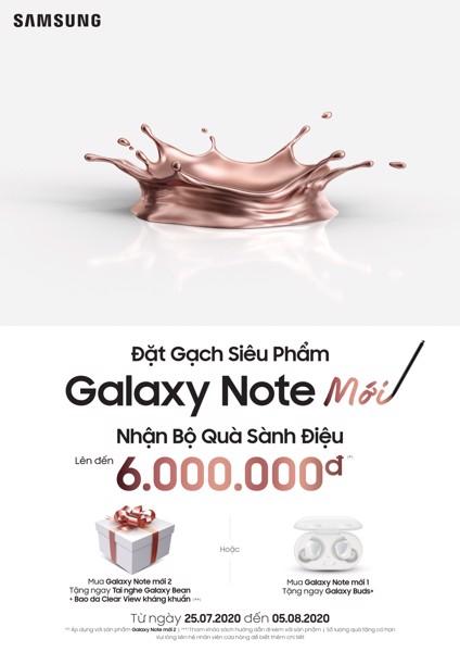 đặt trước galaxy note mới