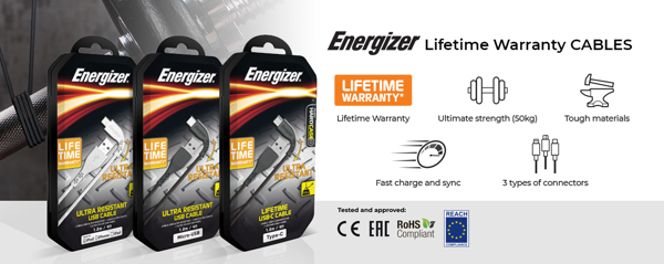 cáp energizer lifetime warranty