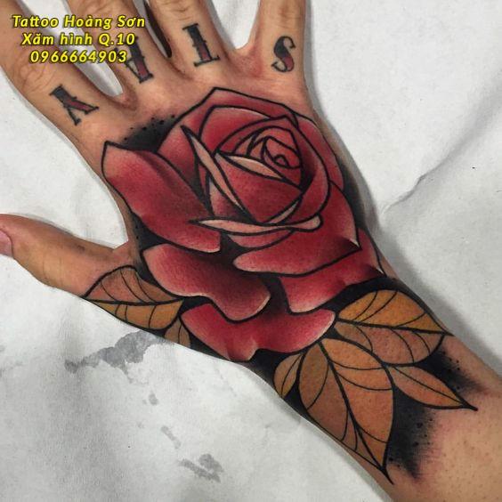 Hình xăm hoa hồng 36