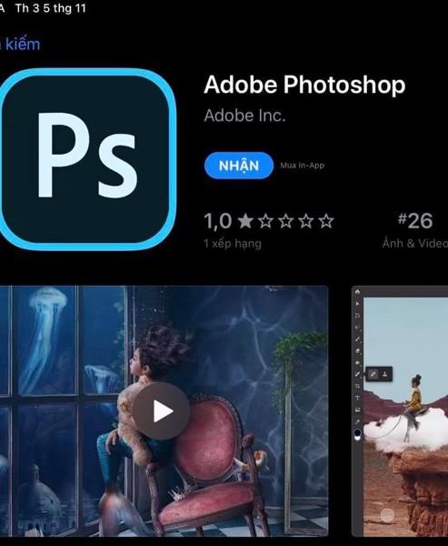 Photoshop trên iPad
