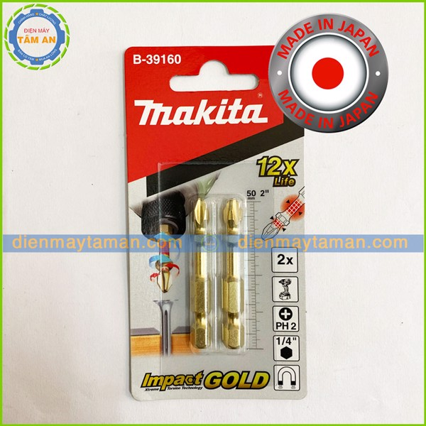 Mũi vít Torsion Makita Impact Gold PH2 B-39160