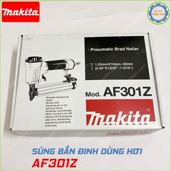 Hộp súng bắn đinh thẳng Makita AF301Z