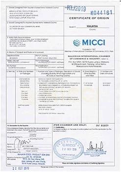 giấy chứng nhận hàng berjaya