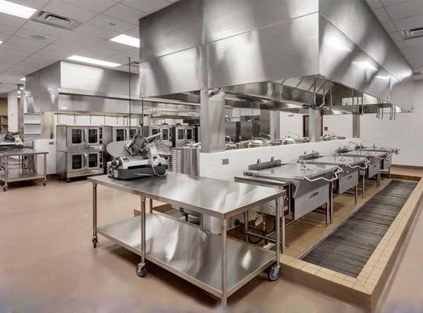 thiết kế đầy đủ toàn bộ chức năng của bếp ăn