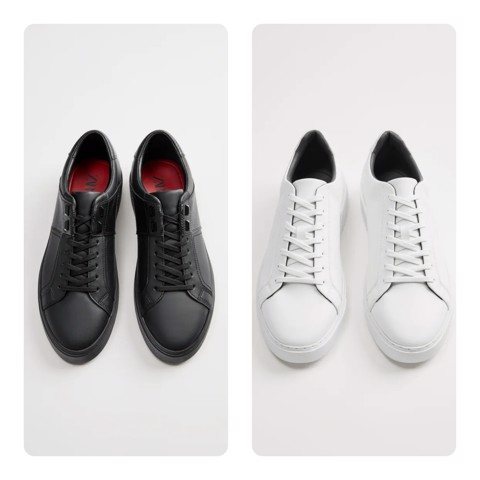 Giày Sneaker  ZARA EMBOSSED Trắng, Đen Cao Cấp Big Size 45 46 47 48