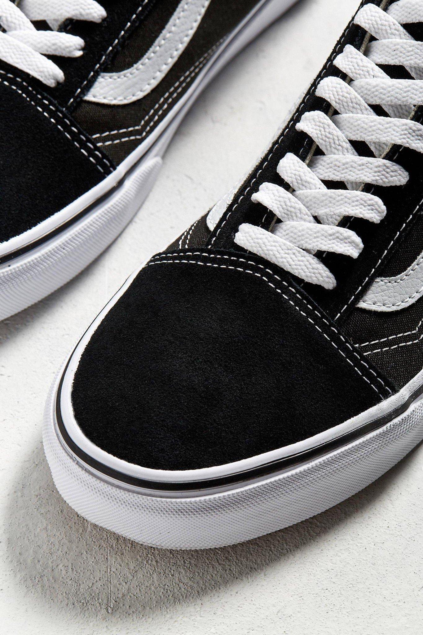 Giày Sneaker Vans Big Size Old Skool Đen Viền Trắng