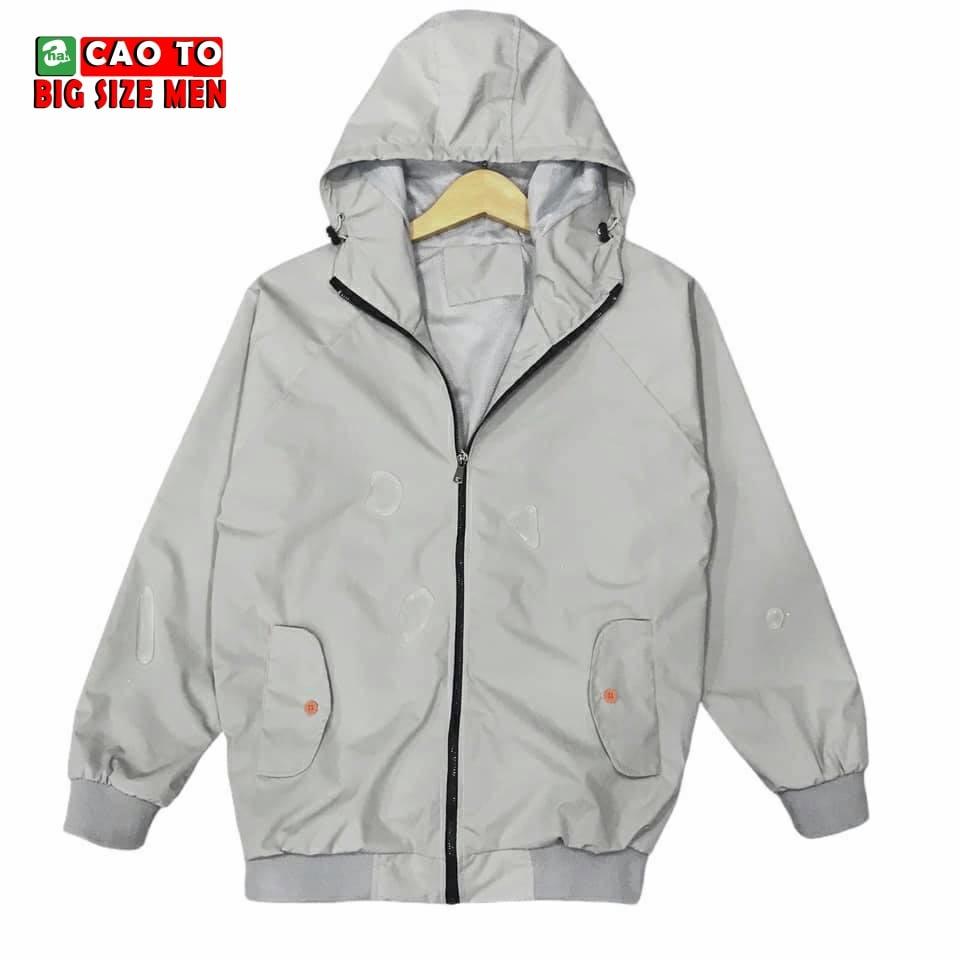 Áo khoác trắng xám nam size lớn