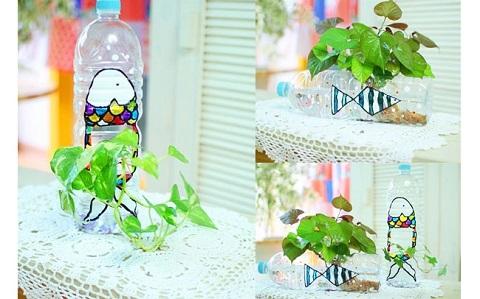 10 ý tưởng tái chế chai nhựa thành vật dụng có ích