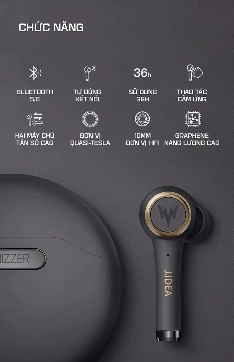 Tai nghe Bluetooth 5.0 Whizzer TP.1S