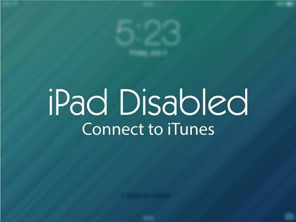 Cách khắc phục khi iPad bị vô hiệu hóa kết nối itunes