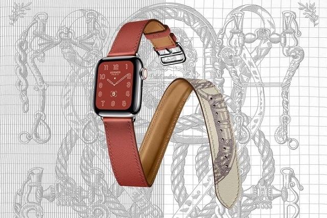 Apple Watch Hermes Series 5 với dây đeo đầy quyến rũ