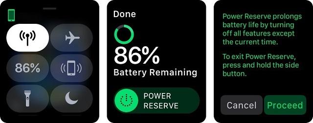 Bật chế độ Power Reserve trên Apple Watch