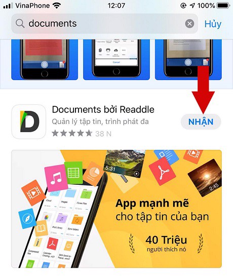 Giao diện Download Documents