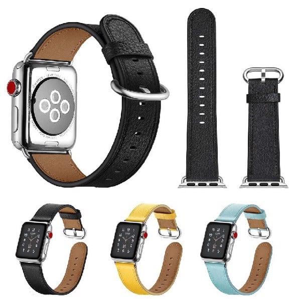 Dây đeo Apple Watch chất liệu da nhiều màu sắc