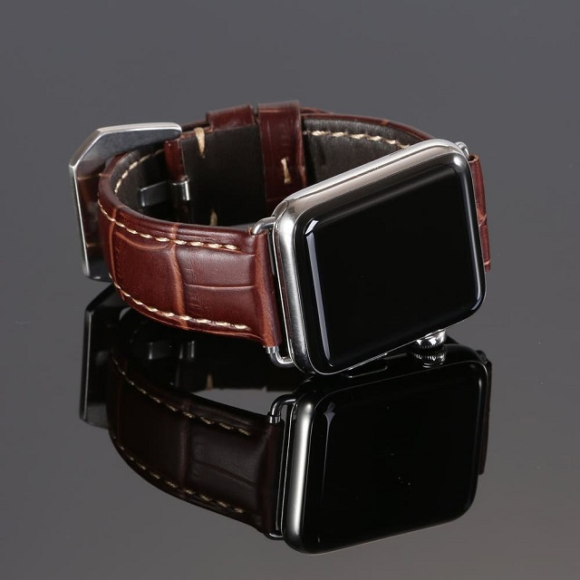 Dây đồng hồ Apple Watch da cá sấu