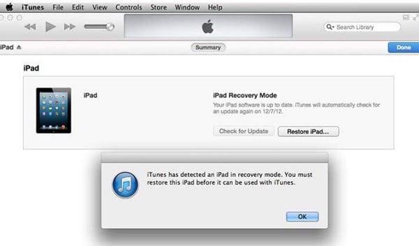 Mở khóa iPad khi bị vô hiệu hóa