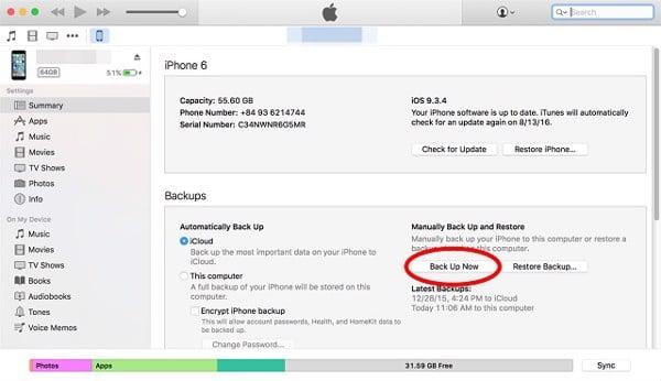 Mở khóa iPad vô hiệu hóa bằng itunes