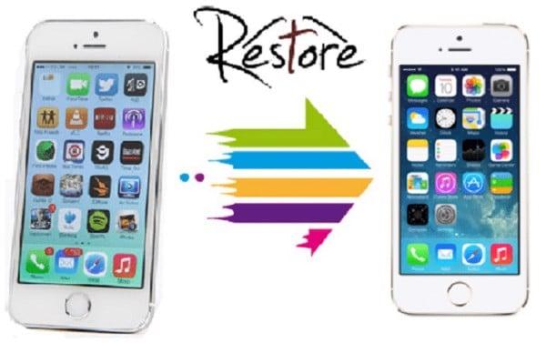 Restore iPhone về trạng thái ban đầu