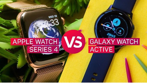 Samsung Galaxy Watch Active 2 hay Apple Watch Series 4 ?