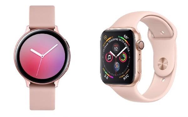 Watch Active 2 hay Apple Watch Series 4 phiên bản hồng