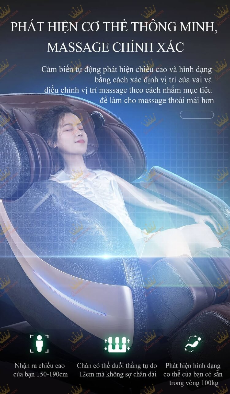 Ghế massage Queen Crown QC CX7