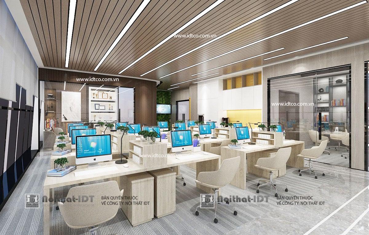 Mẫu thiết kế nội thất văn phòng hiện đại, tiện dụng, giá thành thấp