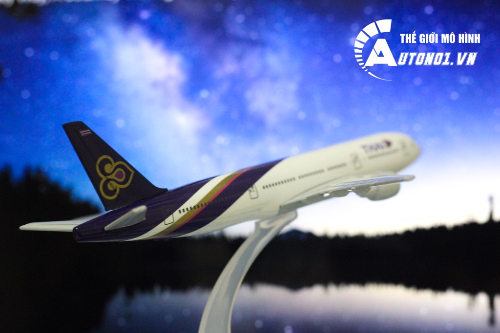 MÔ HÌNH MÁY BAY EVERFLY THAI AIRWAYS 16CM EVERFLY 5784