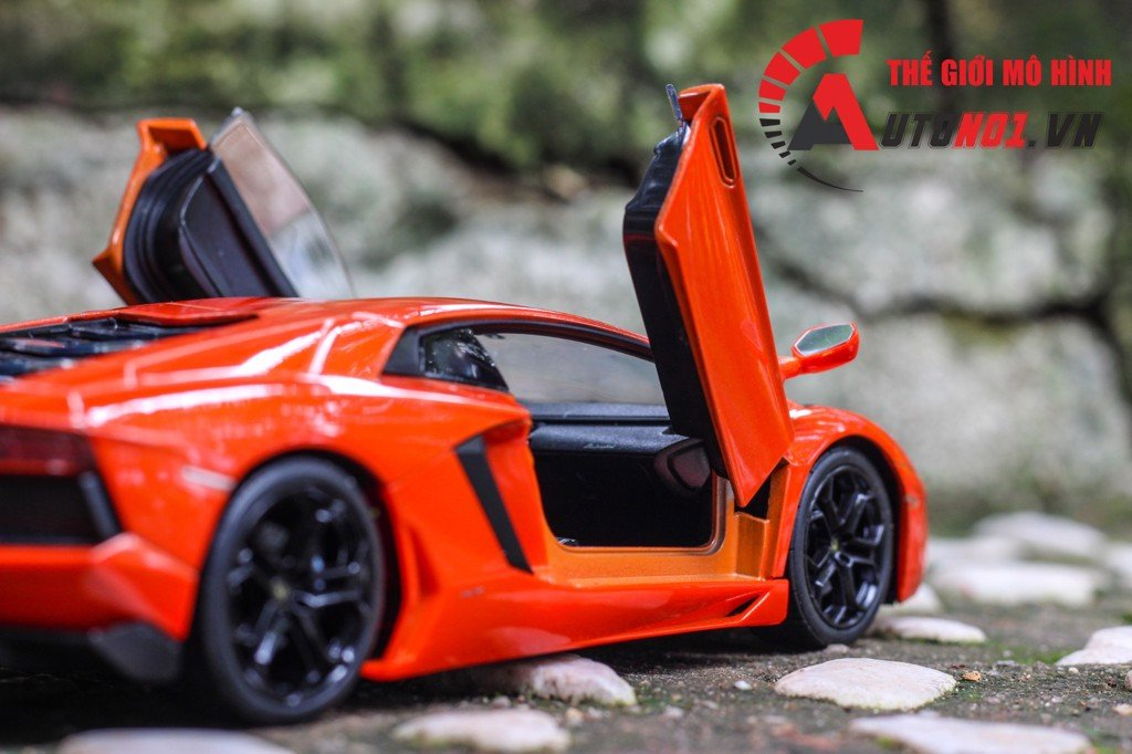 MÔ HÌNH LAMBORGHINI AVENTADOR LP700-4 ORANGE 1:24 WELLY 4650