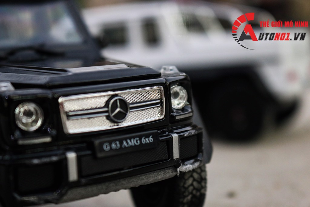 MÔ HÌNH MERCEDES BENZ G63 6X6 BLACK 1:24 WELLY FX 3381
