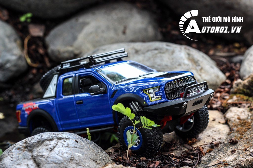 MÔ HÌNH DESIGN OFF-ROAD 2017 FORD F-150 RAPTOR BLUE 1:24 MAISTO 4322