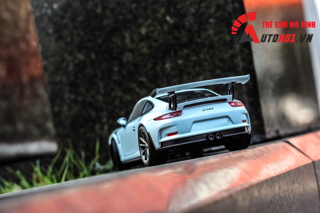 MÔ HÌNH XE PORSCHE 911 GT3 RS 2016 WHITE 1:24 WELLY 5386