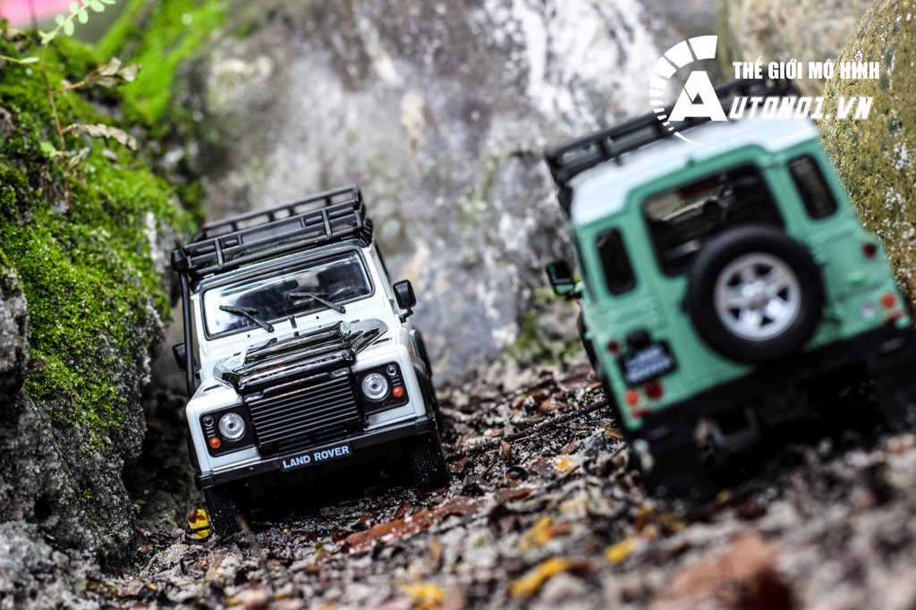 MÔ HÌNH XE LAND ROVER DEFENDER WHITE 1:24 WELLY 5507