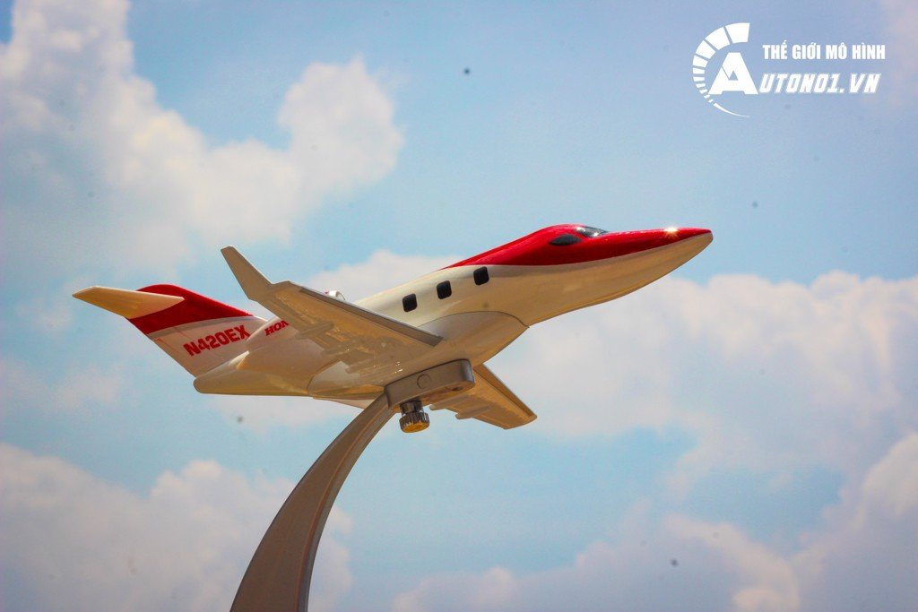 MÔ HÌNH MÁY BAY HONDAJET BUSINESS CLASS RED 18CM 1:72 EVERFLY 6778