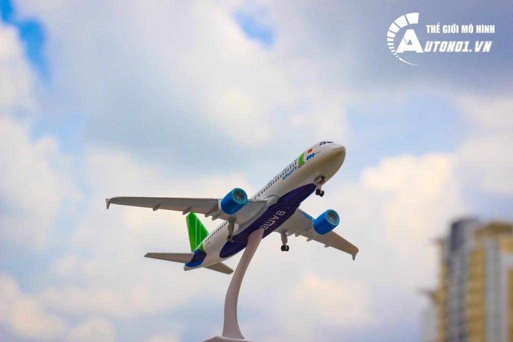MÔ HÌNH MÁY BAY BAMBOO AIRWAYS 18CM EVERFLY 6285
