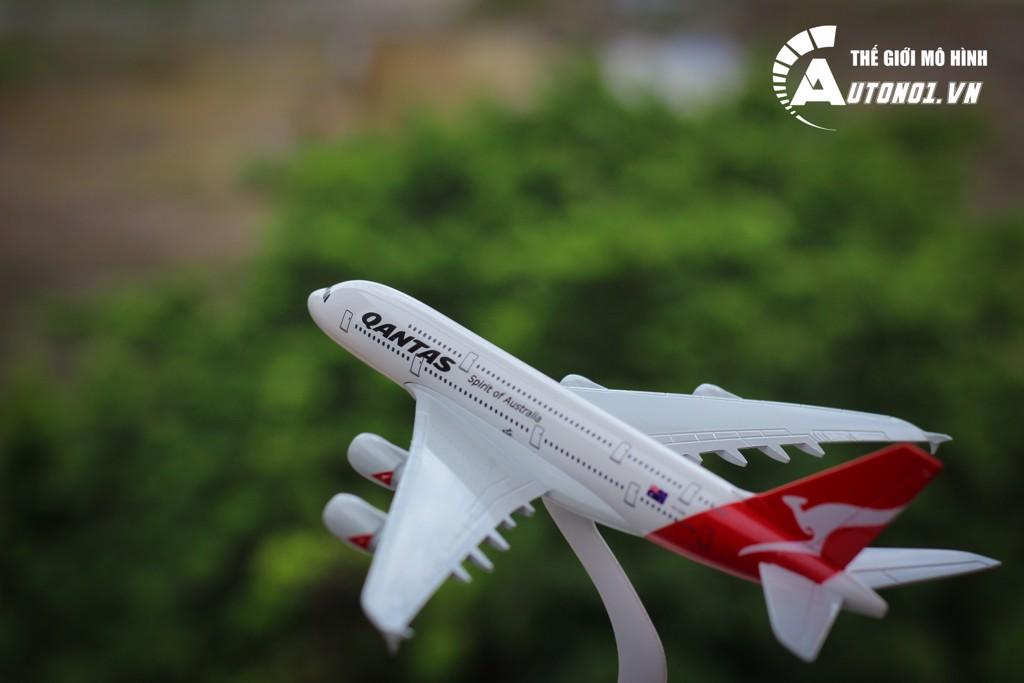 MÔ HÌNH MÁY BAY QANTAS AUSTRALIA A380 KHÔNG BÁNH 18CM EVERFLY 6276
