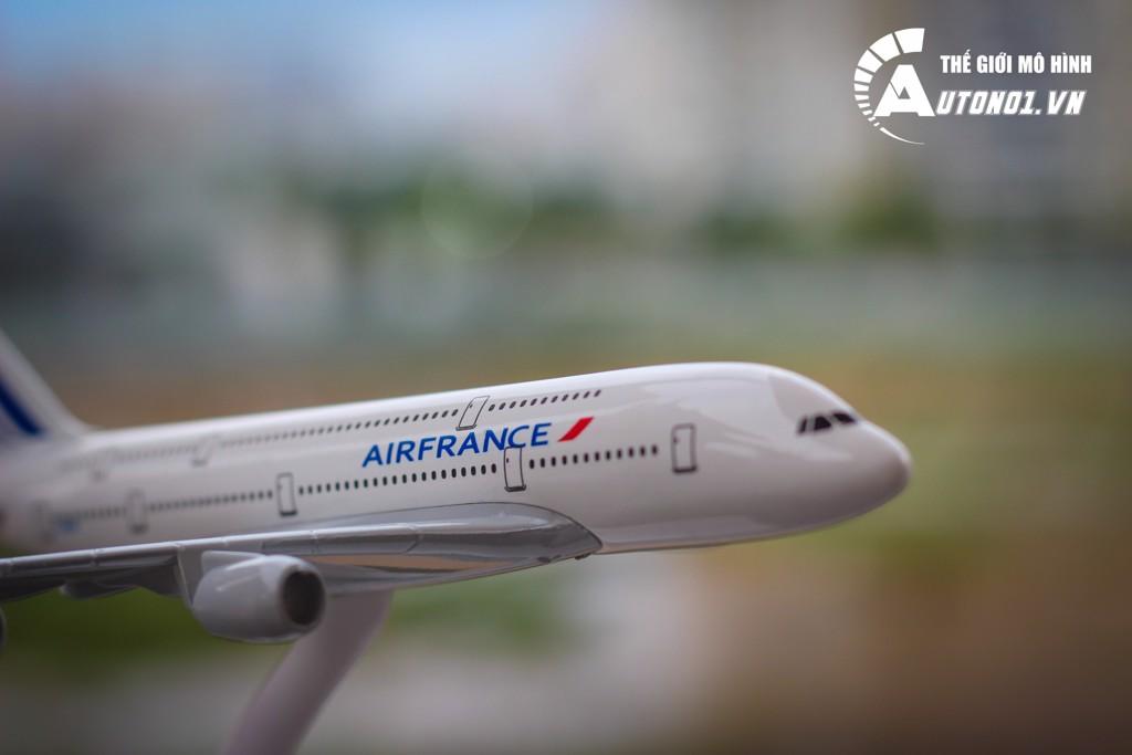 MÔ HÌNH MÁY BAY AIR FRANCE A380 KHÔNG BÁNH 18CM EVERFLY 6266