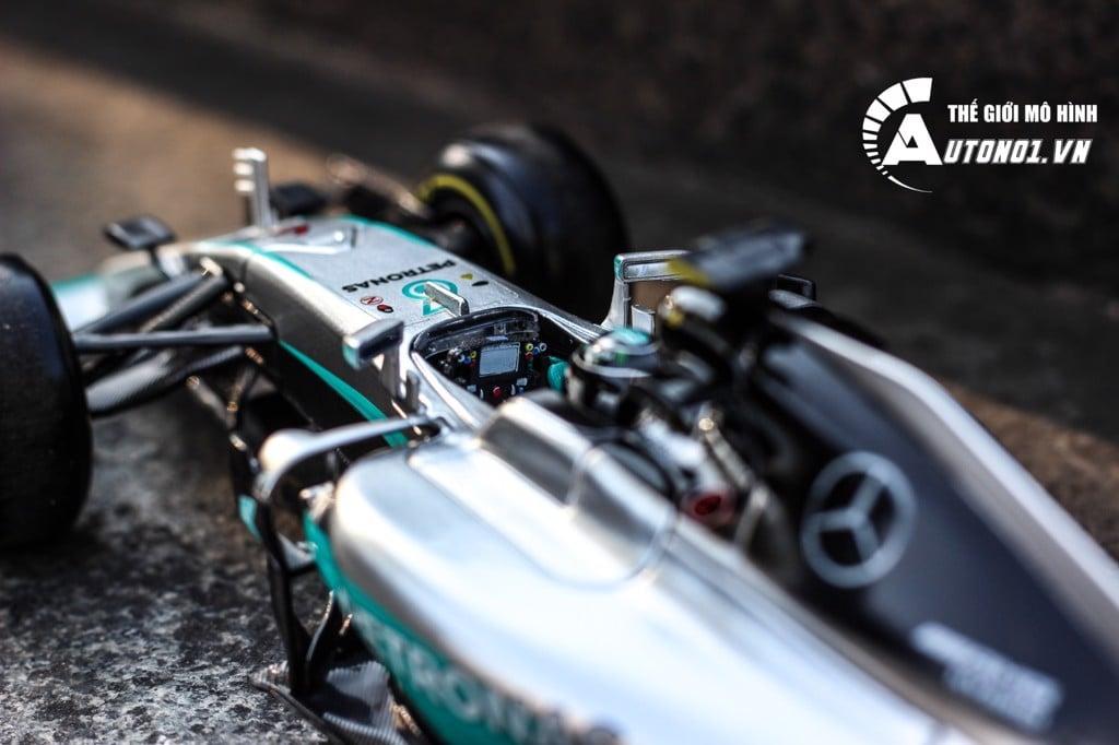 MÔ HÌNH XE F1 MERCEDES AMG PETRONAS F1 W07 NICO ROSBERG HYBRID 2016 WORLD CHAMPION 1:18R BBUAGO 5212