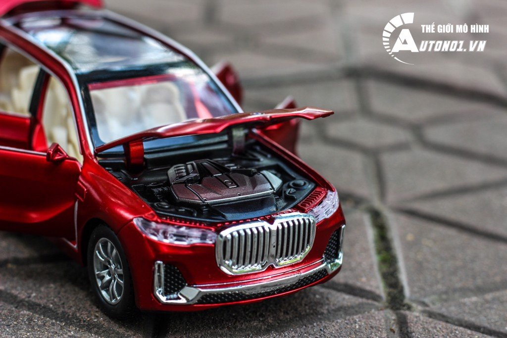 MÔ HÌNH XE BMW X7 RED 1:32 CHE ZHI KHÔNG HỘP 5450