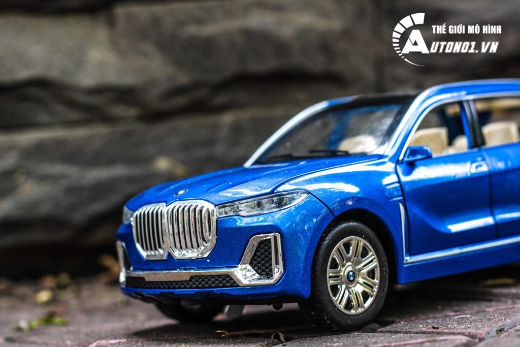 MÔ HÌNH XE BMW X7 BLUE 1:24 CHE ZHI 6225