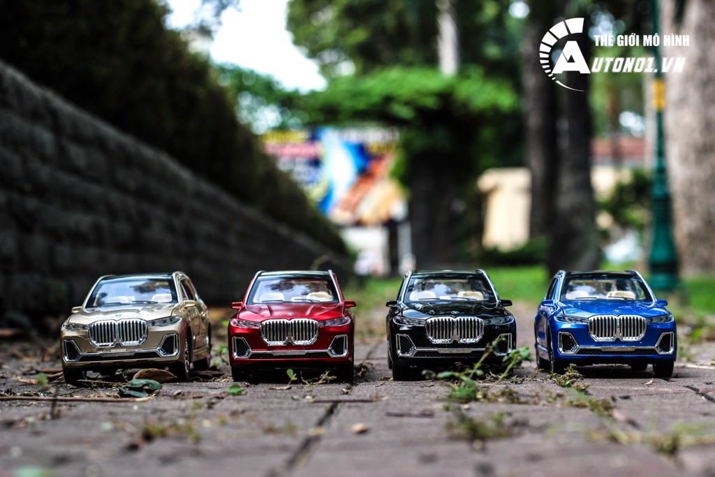 MÔ HÌNH XE BMW X7 YELLOW 1:24 CHE ZHI 6845