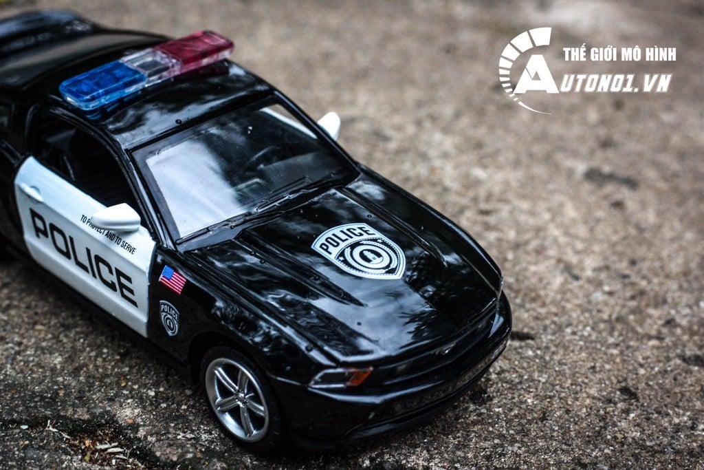 MÔ HÌNH XE POLICE FORD MUSTANG BLACK GT 1:32 CAIPO 5203