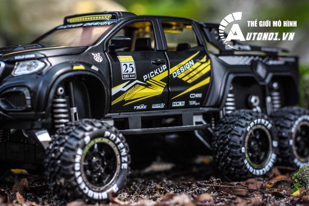 MÔ HÌNH XE MERCEDES X-CLASS 6X6 PICKUP OFFROAD BLACK 1:28 CHIMEI MODEL 7147